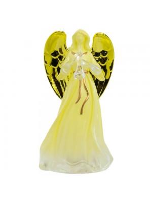 Anjo Trombeta Acende Luzes Plástico 12cm