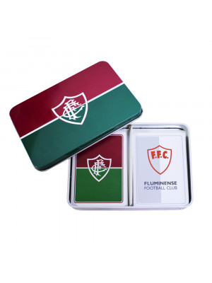 PC001C-6-B | Jogo Com 2 Baralhos Dentro Da Lata - Fluminense
