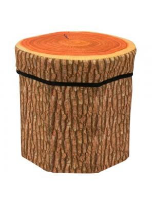 Banquinho Organizador Tronco Árvore 29x30cm