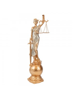 Dama Da Justiça Globo Rosê 41cm - Enfeite Resina