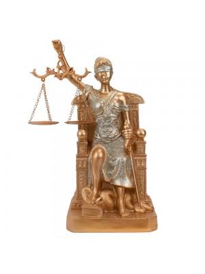 Dama Da Justiça Rosê Sentada 29cm - Enfeite Resina