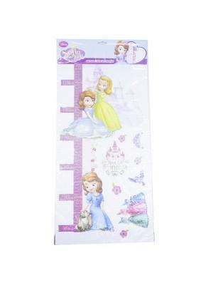 SOF-GW01-D | Adesivo Altura Métrica Princesinha Sofia - Disney