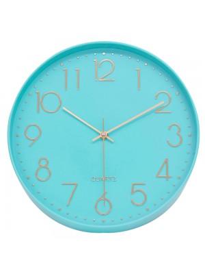 Relógio Parede Verde Turquesa 30x30cm
