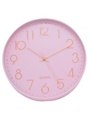 Relógio Parede Rosa 30x30cm