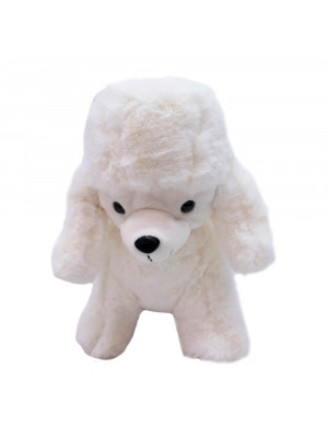 Cachorro Poodle Branco 25cm - Pelúcia
