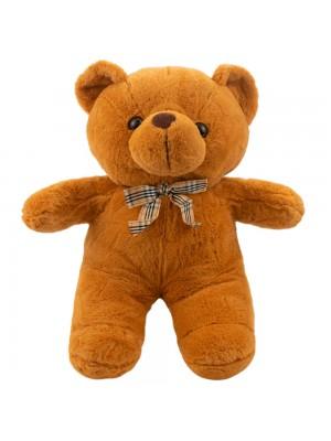 Urso Marrom Claro Laço 30cm - Pelúcia