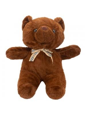 Urso Marrom Escuro Laço 30cm - Pelúcia