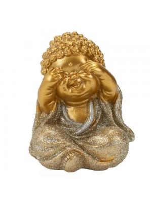 Buda Dourado Não Vejo 9cm