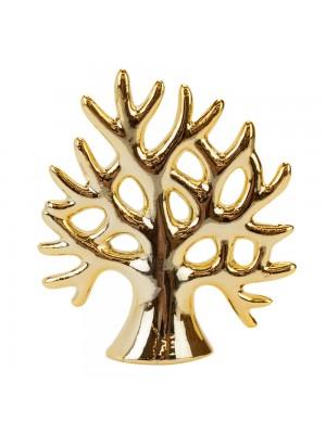 Árvore Cerâmica Dourada 10cm