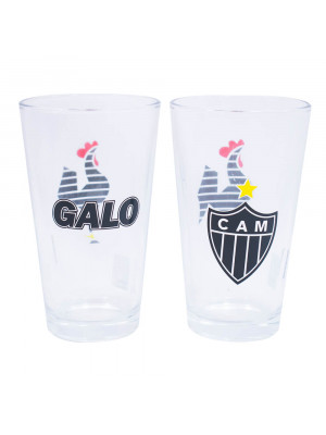 Jg 2 Copos De Vidro 475ml - Atlético Mineiro