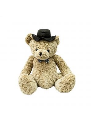 Urso Marrom Com Chapéu 64cm - Pelúcia