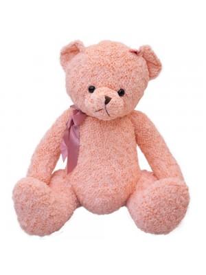 Urso Rosa Com Laço 57cm - Pelúcia