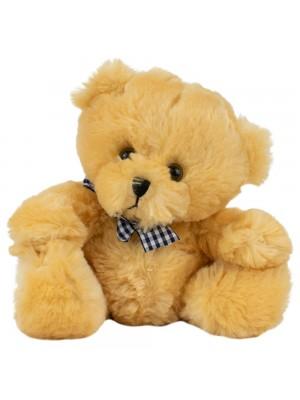 Urso Caramelo Laço Sentado 18cm - Pelúcia