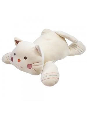 Gato Branco Deitado 47cm - Pelúcia