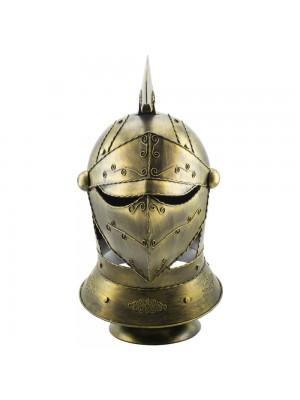 Enfeite Capacete Cavaleiro Medieval Dourado 47x30x26cm