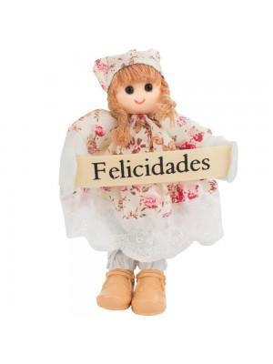 Boneca Placa Felicidades 16cm