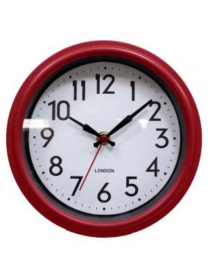Relógio Parede Vermelho 21.5x21.5cm