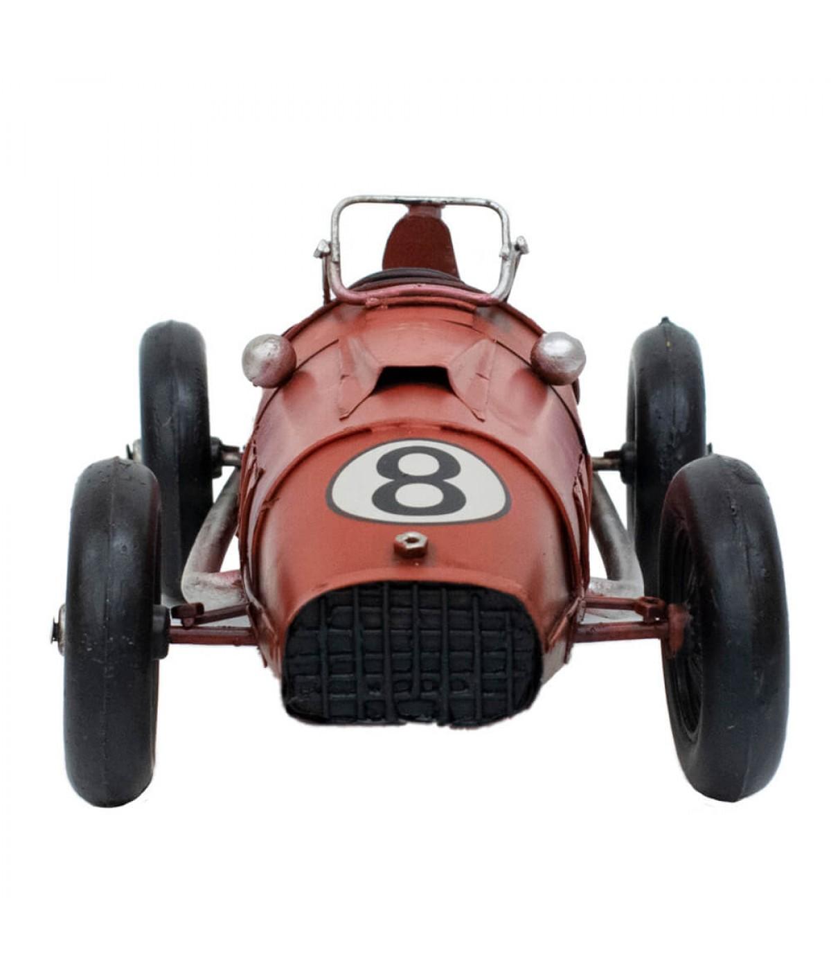 Carro Corrida Vermelho 10x32x13,5cm Estilo Retrô - Vintage