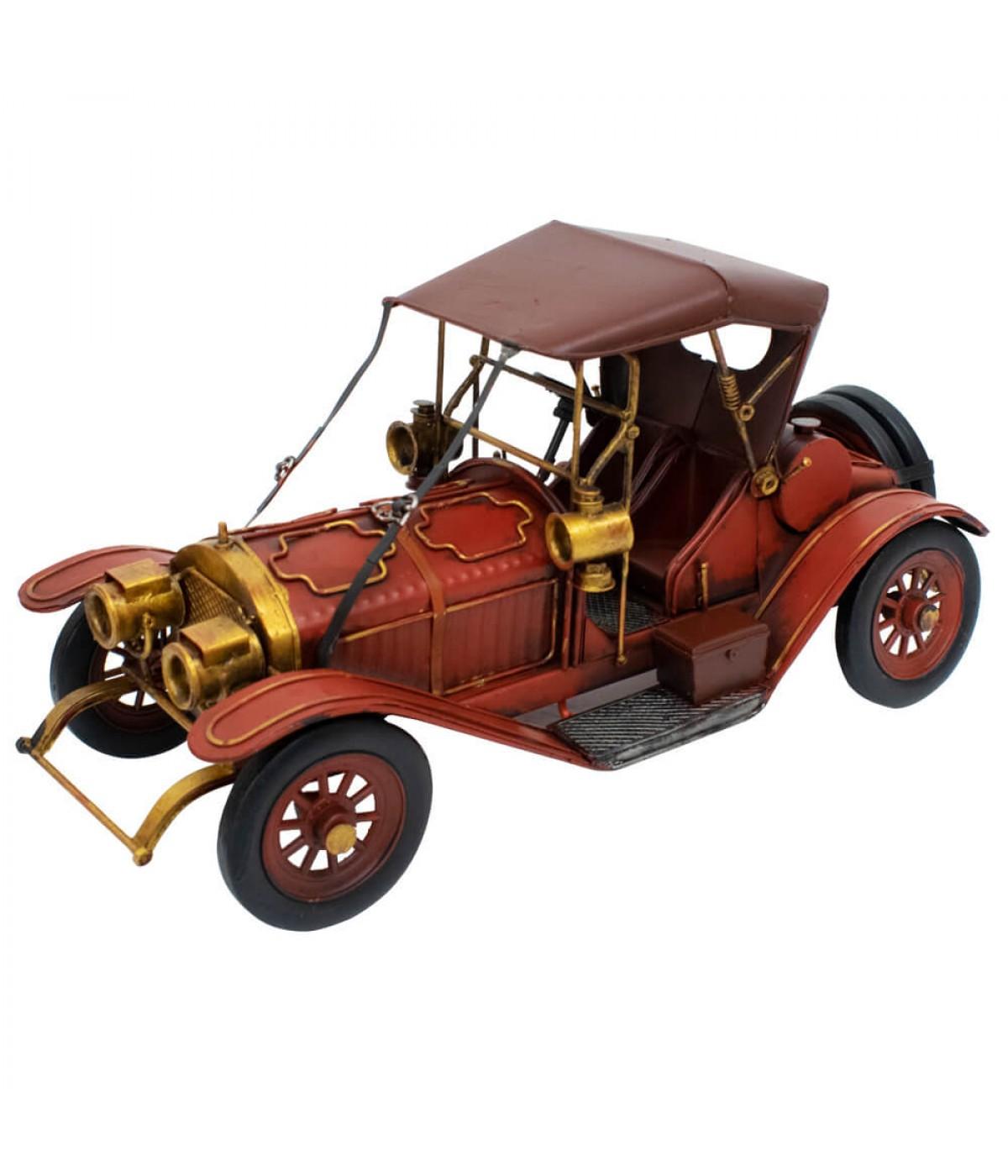 Carro Antigo Vermelho 17x34x14.5cm Estilo Retrô - Vintage