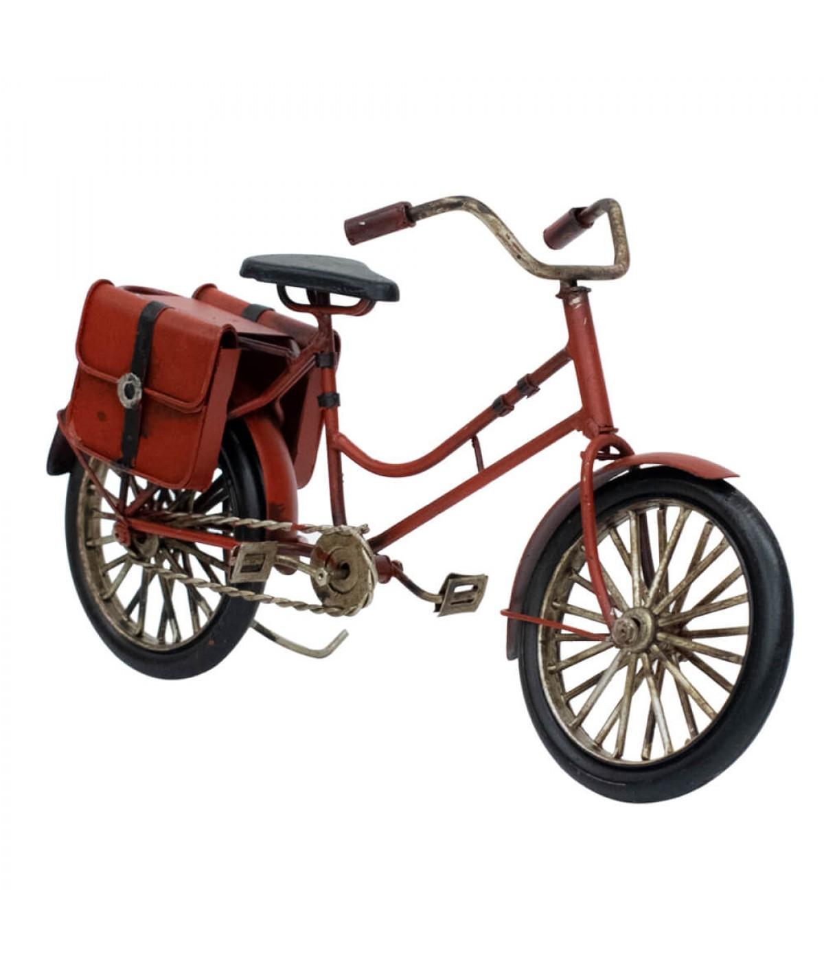Bicicleta Vermelha 12.5x23.2x9cm Estilo Retrô - Vintage