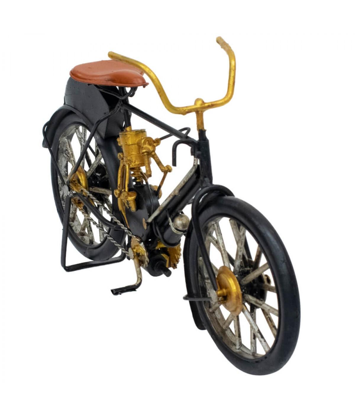 Bicicleta Preta 15.5x26x6.3cm Estilo Retrô - Vintage