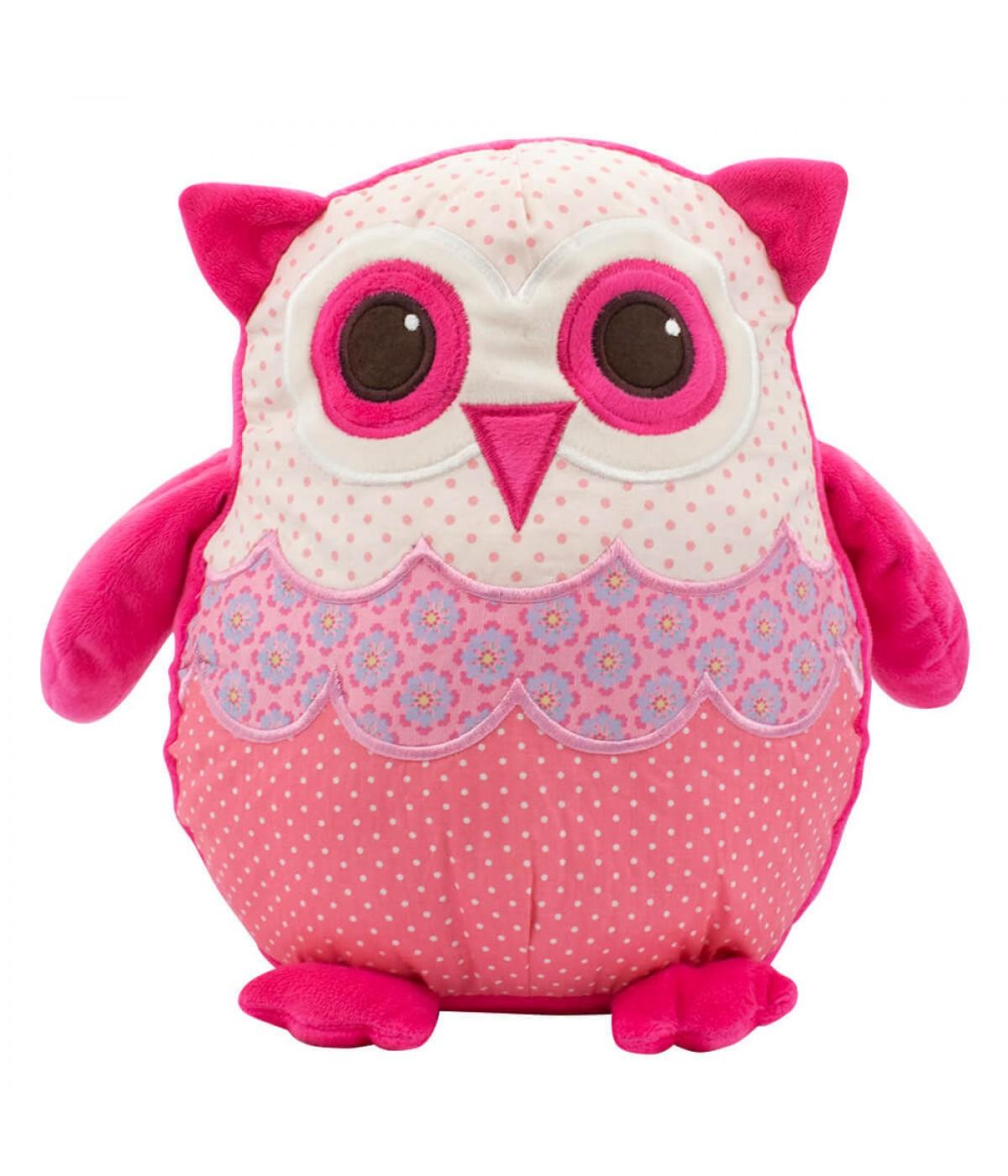 Coruja Pink 27cm - Pelúcia