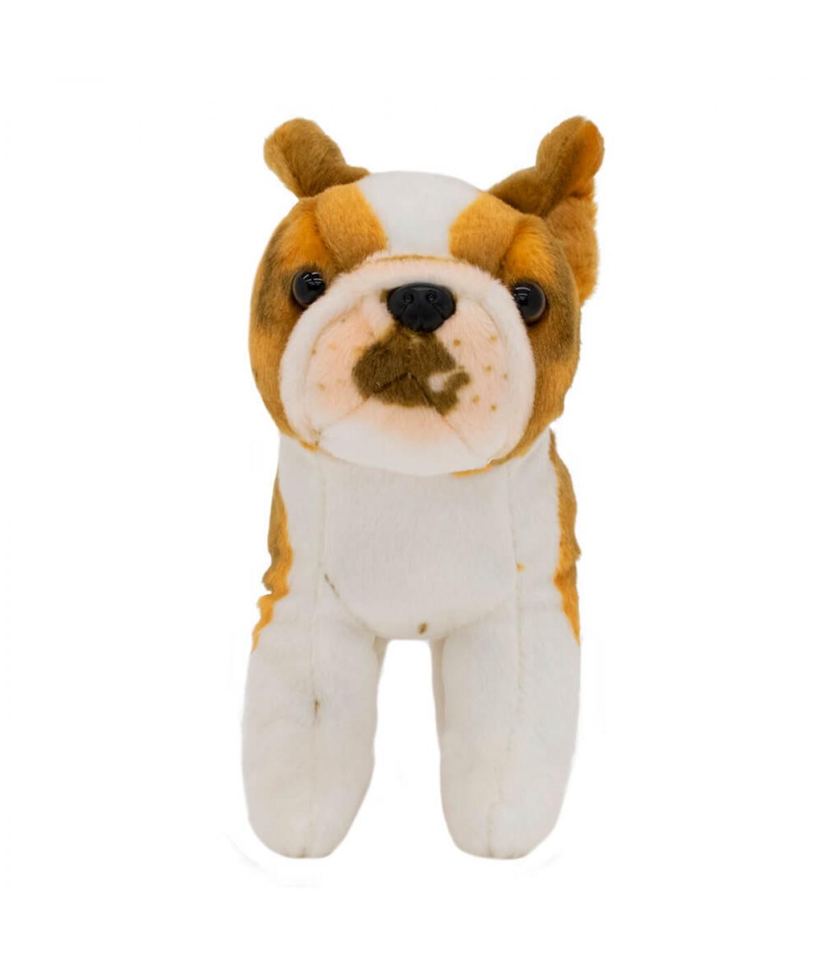 Cachorro Bulldog Francês Realista 20cm - Pelúcia