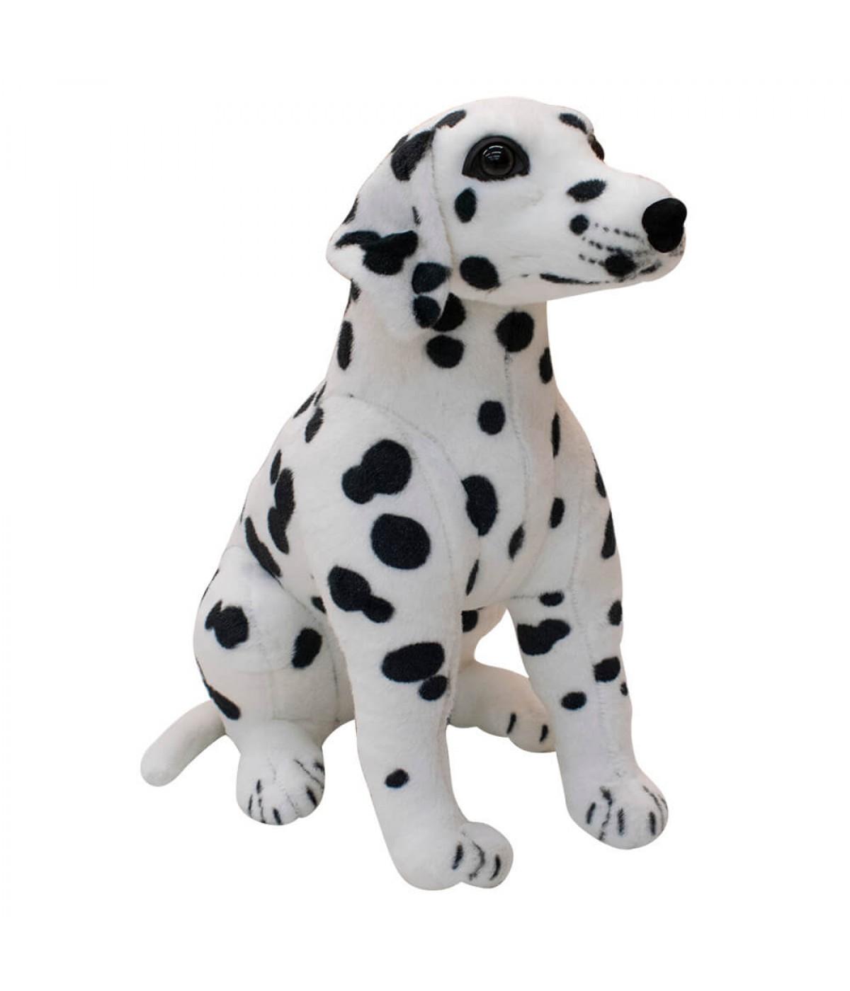 Cachorro Dálmata Realista Sentado 42cm - Pelúcia Enfeite