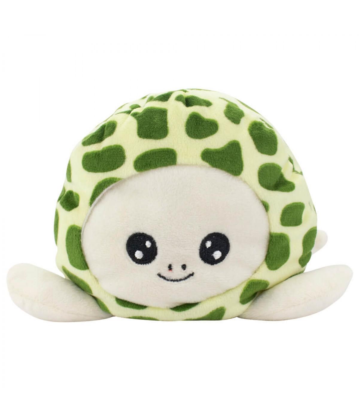 Tartaruga Marrom Verde Humor 14cm - Pelúcia