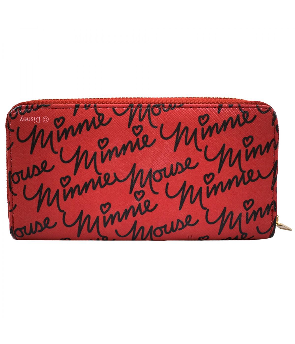 Carteira Rosto Minnie Vermelha Disney Dmg9020mk12 Minas De