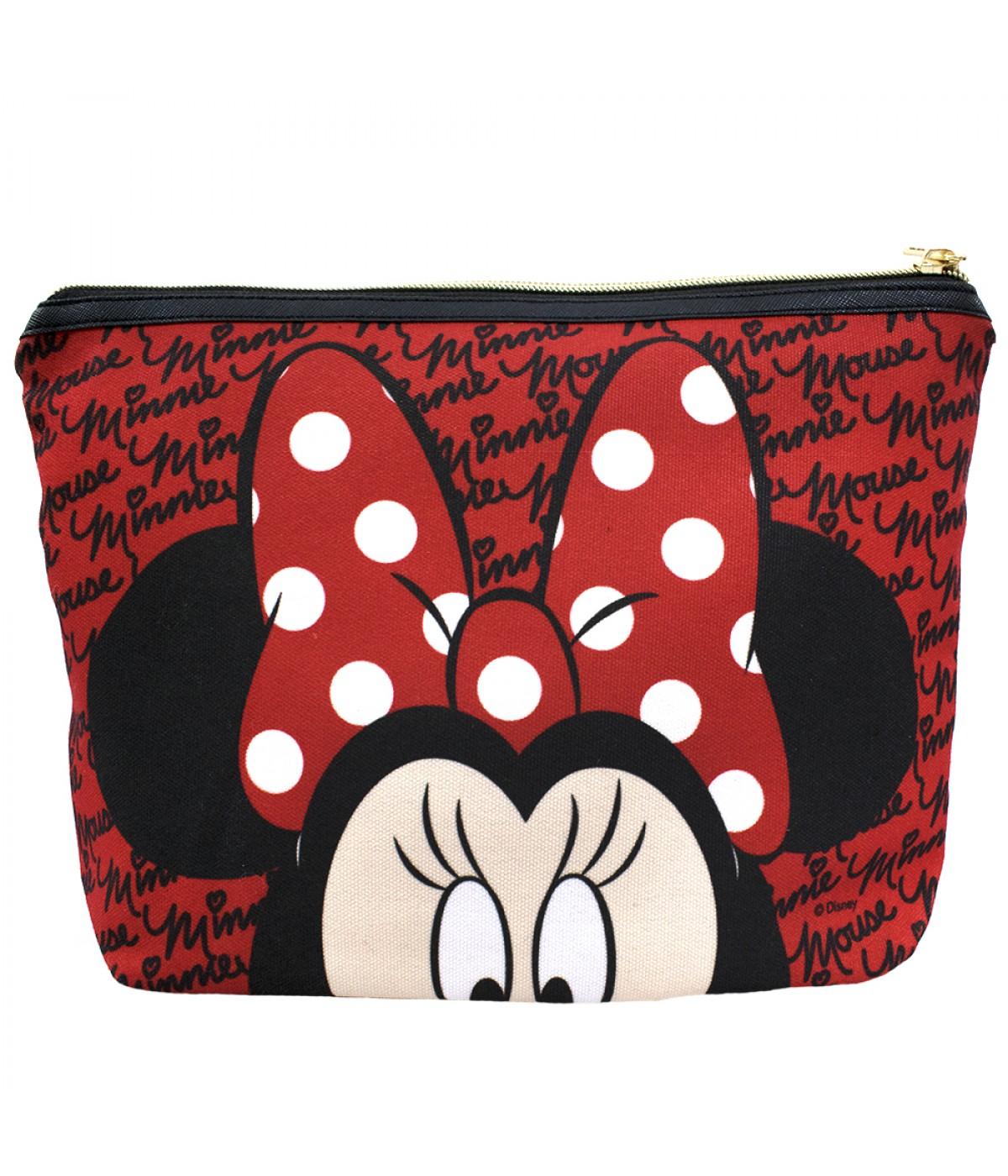 Necessaire Vermelho Assinatura Rosto Minnie Disney Dmg9040wmk16