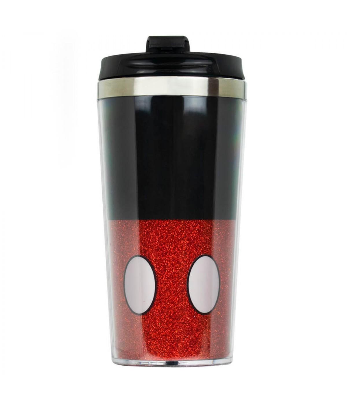 Copo Térmico Mickey Tampa Preta 450ml - Disney