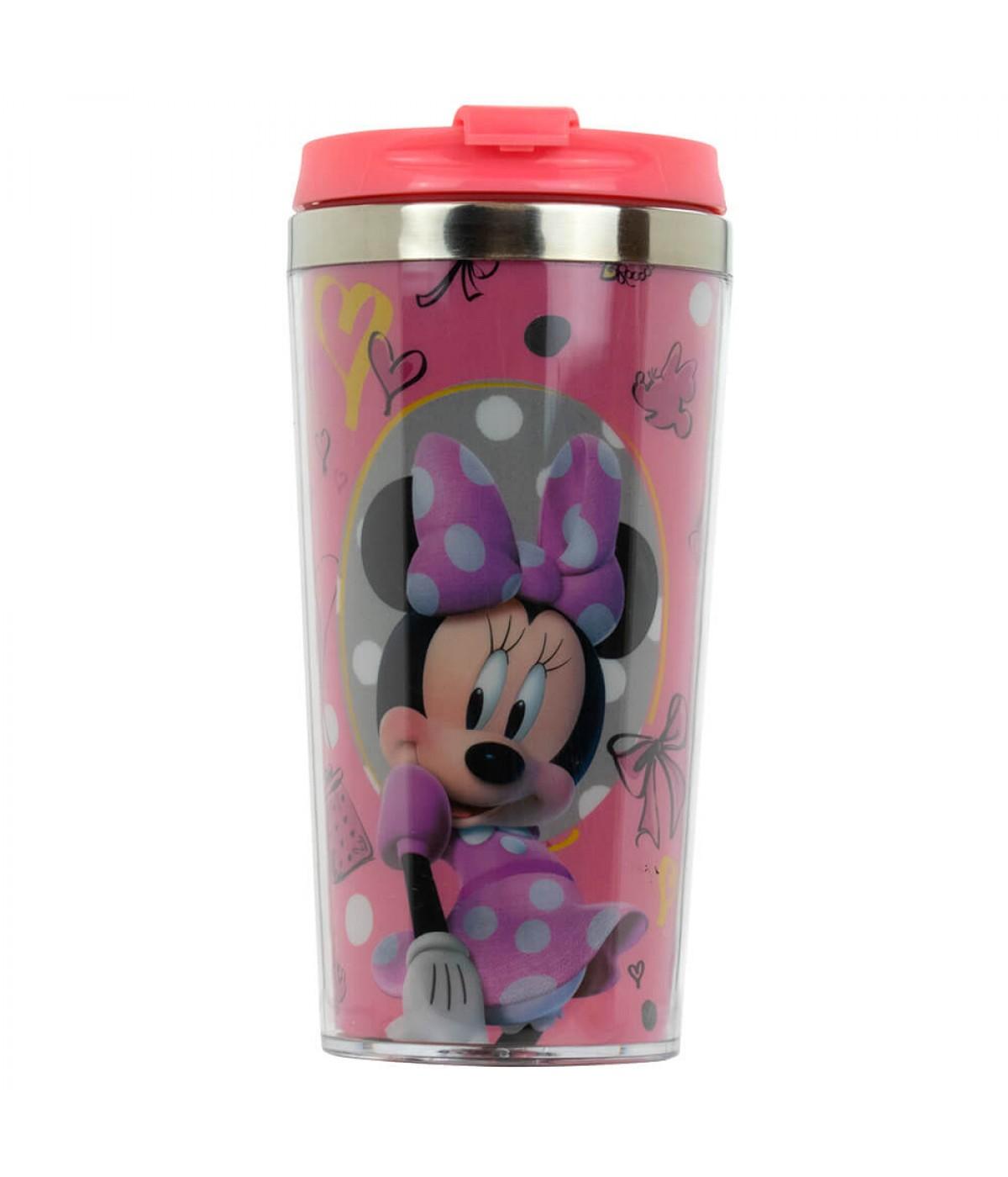 Copo Térmico Minnie Tampa Rosa 450ml - Disney