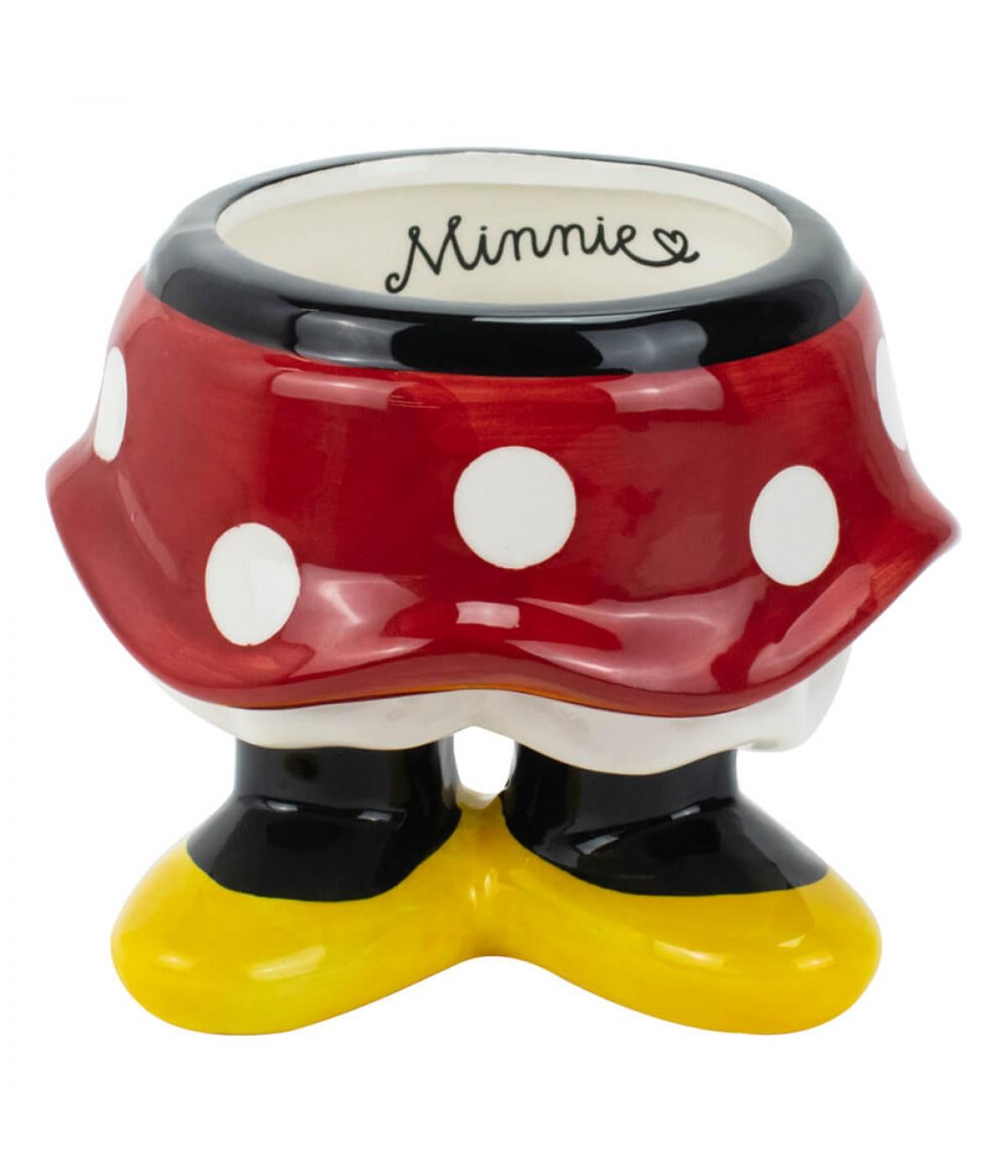 Vaso Porcelana Porta Objeto Corpo Minnie 11cm - Disney