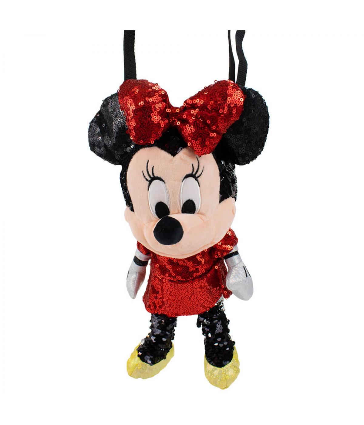 Bolsa Formato Pelúcia Minnie Lantejoulas 30cm - Disney