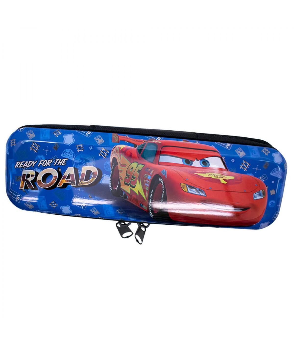 Estojo Metal Azul Carros Relâmpago Mcqueen 6x3.5x19cm - Disney