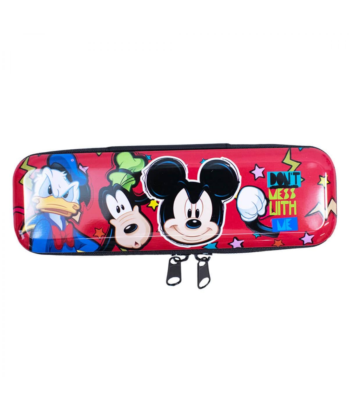 Estojo Metal Vermelho Mickey Sorrisão 6x3.5x19cm - Disney