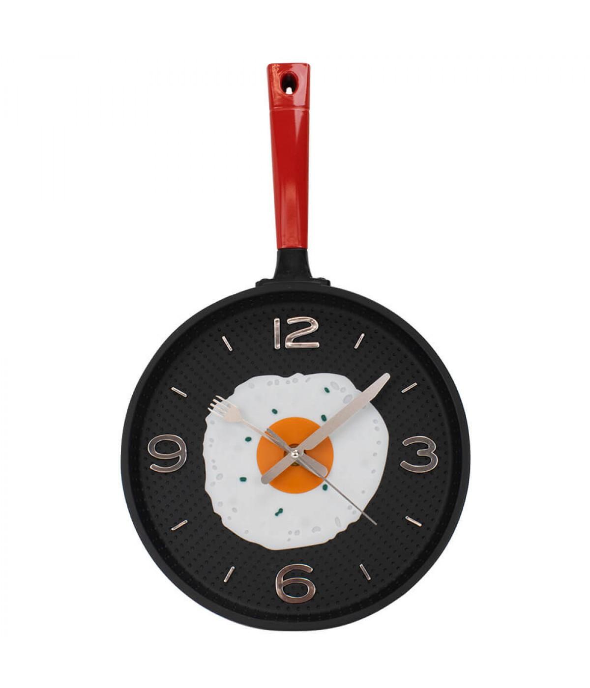 Relógio Parede Frigideira Vermelha 43.5x25cm