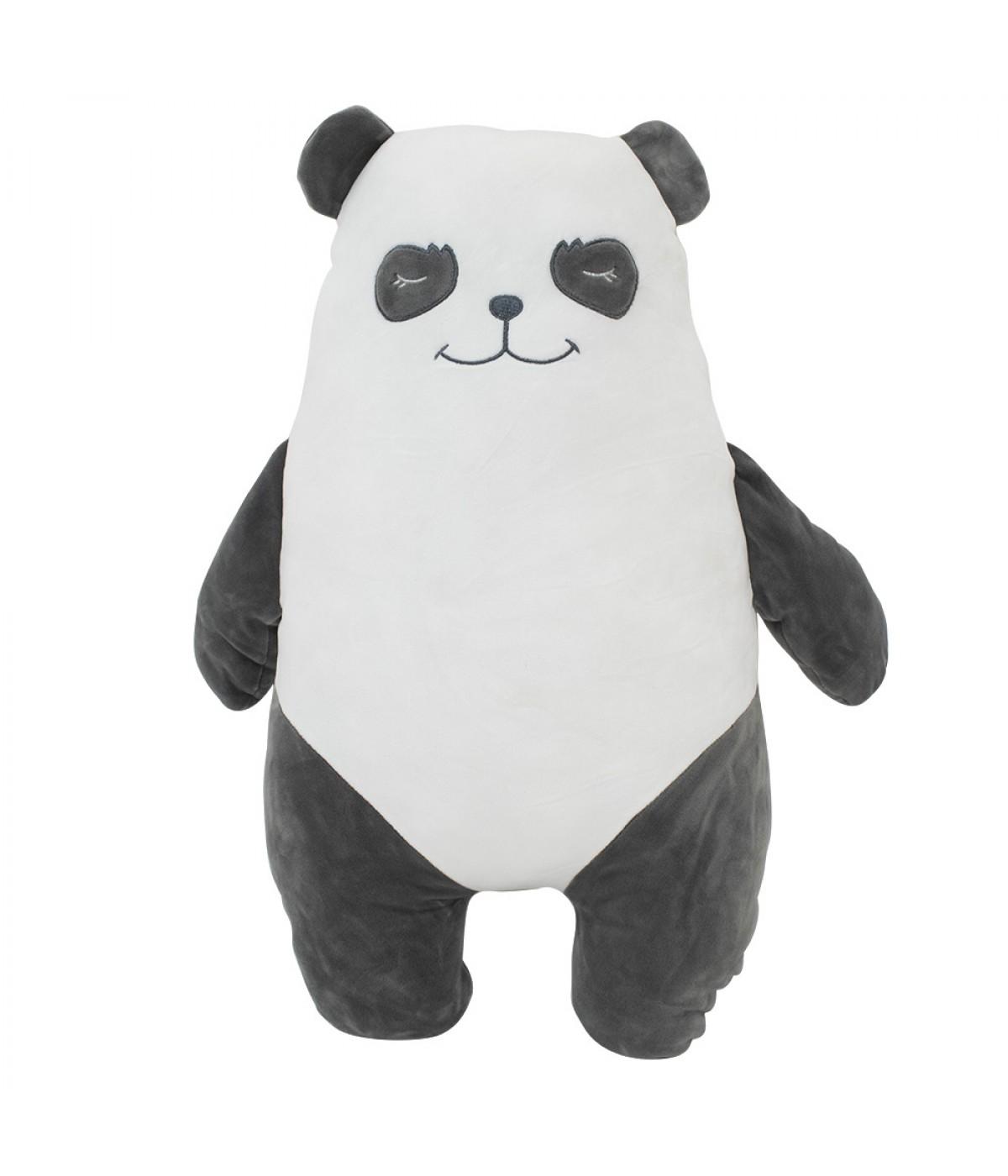 Almofada Formato Urso Panda Pelúcia 53cm