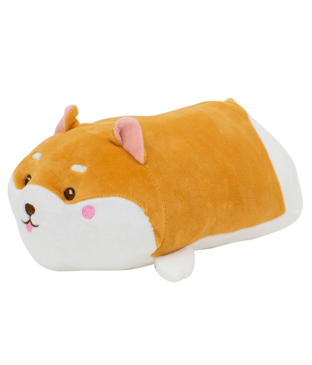 Almofada Formato Cachorro Shiba Pelúcia 37cm