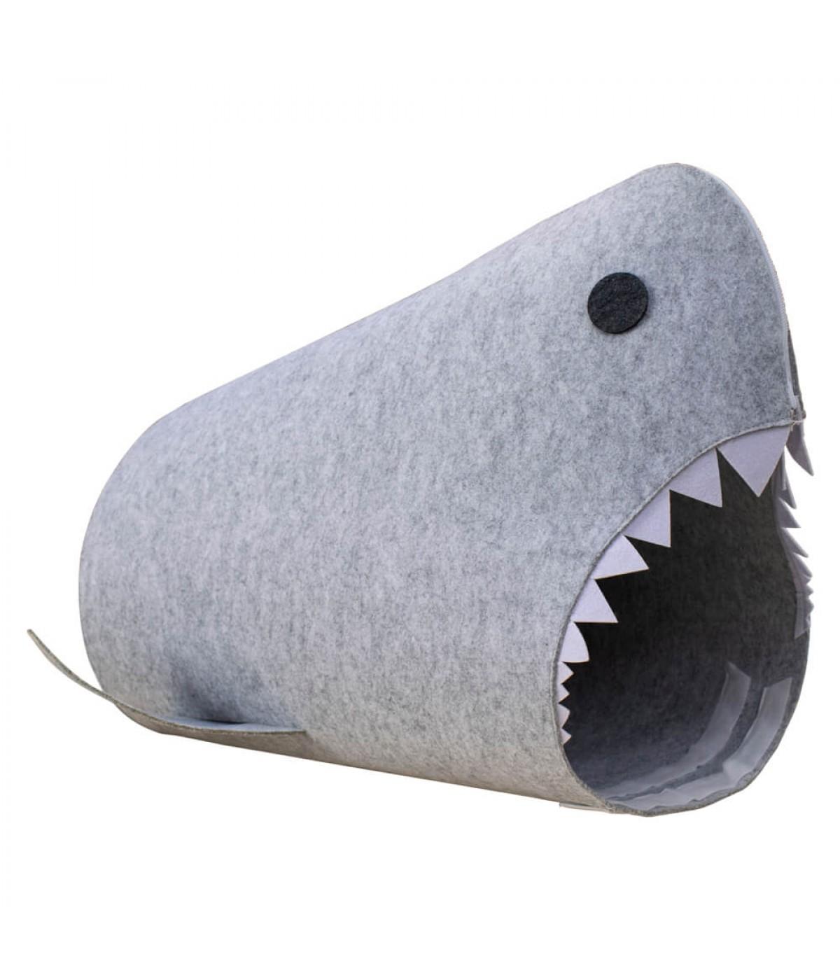 Porta Objeto Tubarão Cinza 58x36x40cm