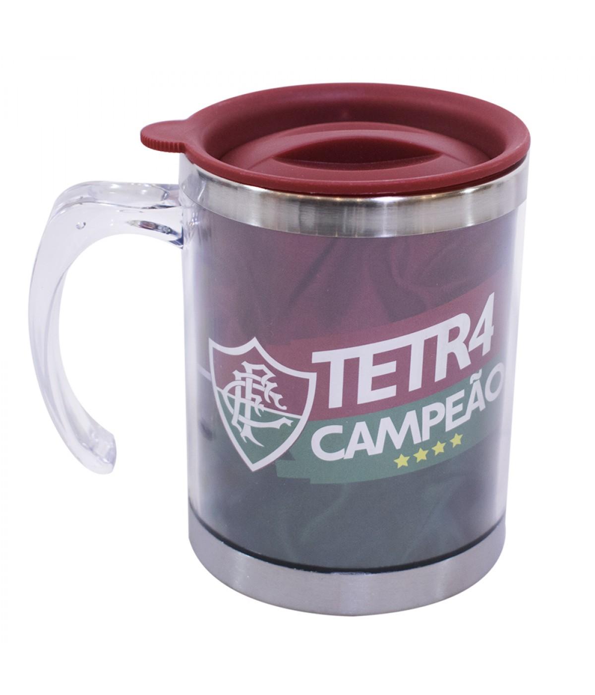 c6b229bcbb CANECA TÉRMICA COM TAMPA 450ML - FLUMINENSE ...