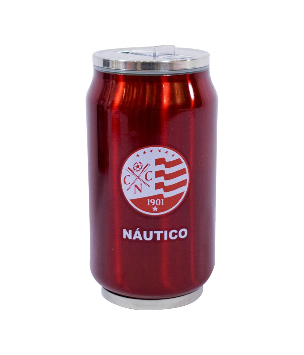 Copo De Inox Com Canudo 300ml - Náutico