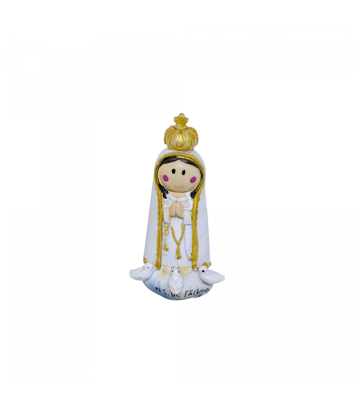 Nossa Senhora De Fatima Desenho 10cm Enfeite Resina Minas De