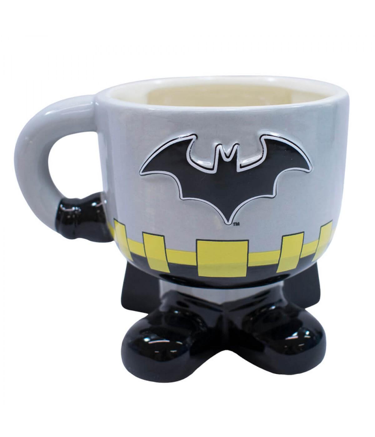 91f3c1cb6dcfd7 WSM0418759501-DC1-G   Caneca Porcelana Corpo Batman 450ml - Liga Da Justiça