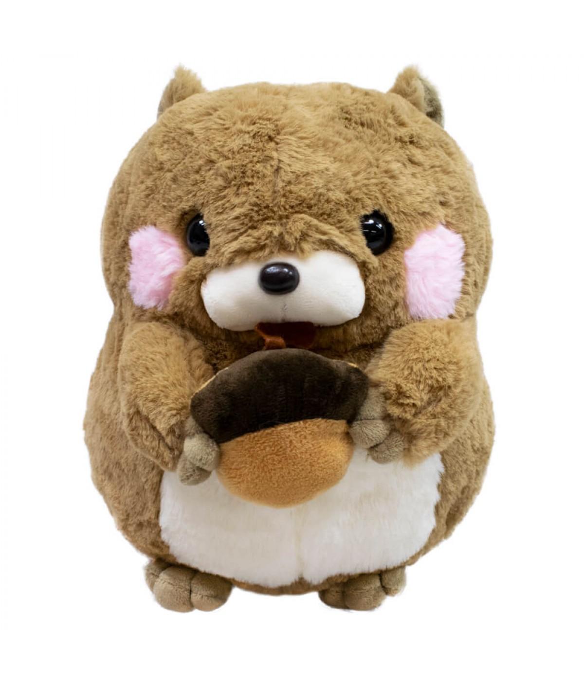 Esquilo Marrom Comendo Noz 26cm - Pelúcia