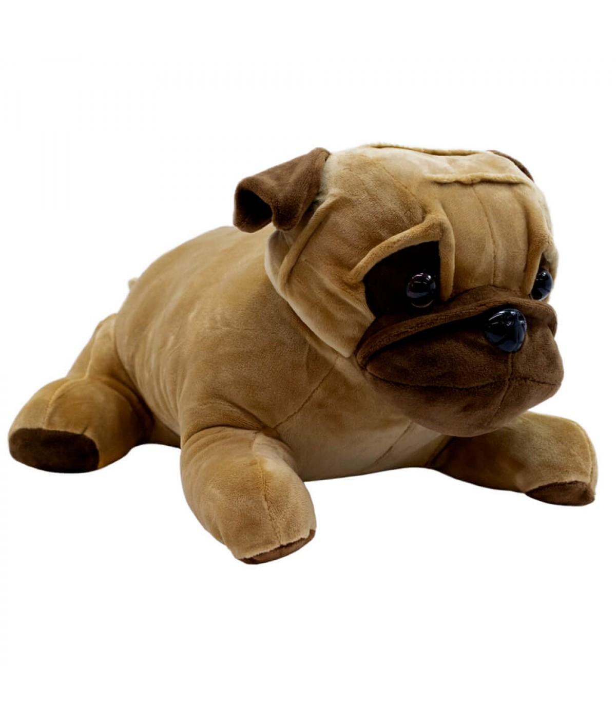 Cachorro Pug Marrom Deitado 33cm - Pelúcia