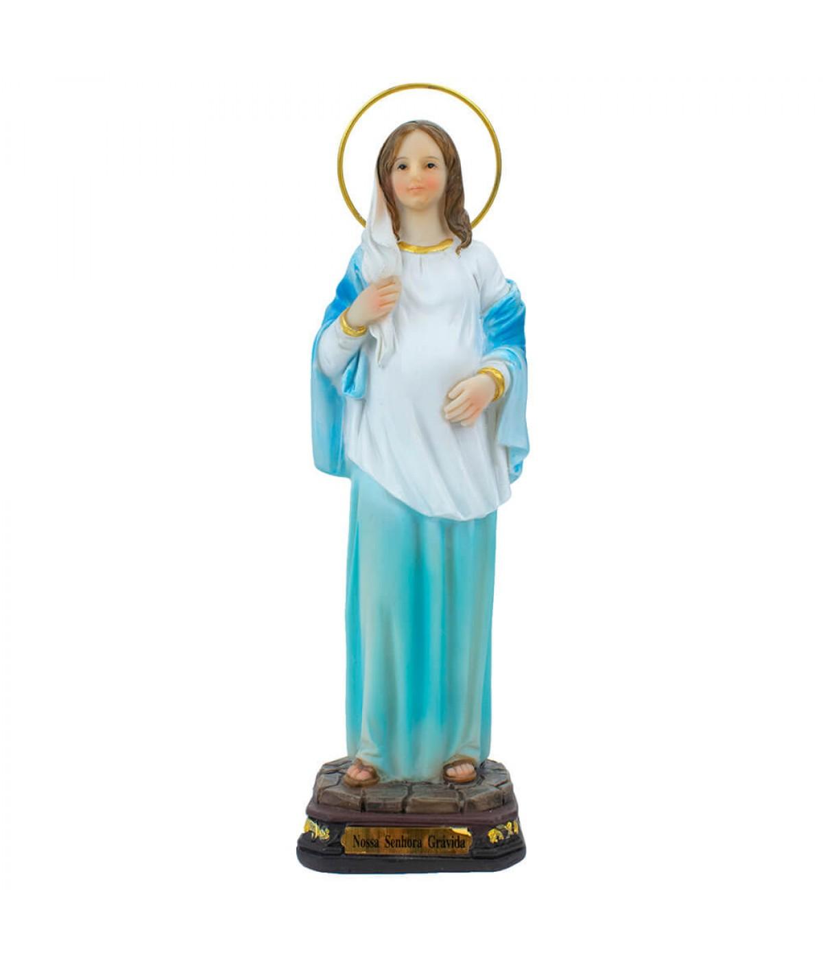 Nossa Senhora Grávida 23cm - Enfeite Resina
