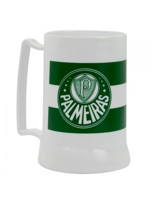 Caneca Branca Gel Isolante Térmico 400ml - Palmeiras