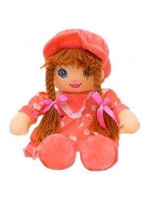 Boneca Rosa Círculos Com Chapéu 45cm